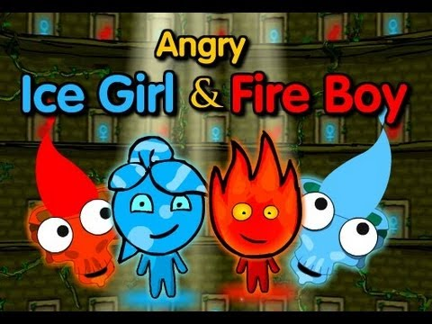 Angry Fire Boy and Ice Girl
